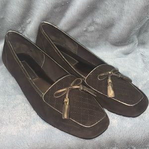 Enzo Angiolini Leather Brown Loafers flats shoes